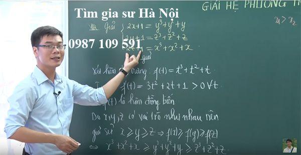 Gia sư môn Toán tại thành phố Hà Nội