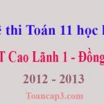 Đề thi Toán 11 học kì 1 THPT Cao Lãnh 1 - Đồng Tháp 2012 - 2013