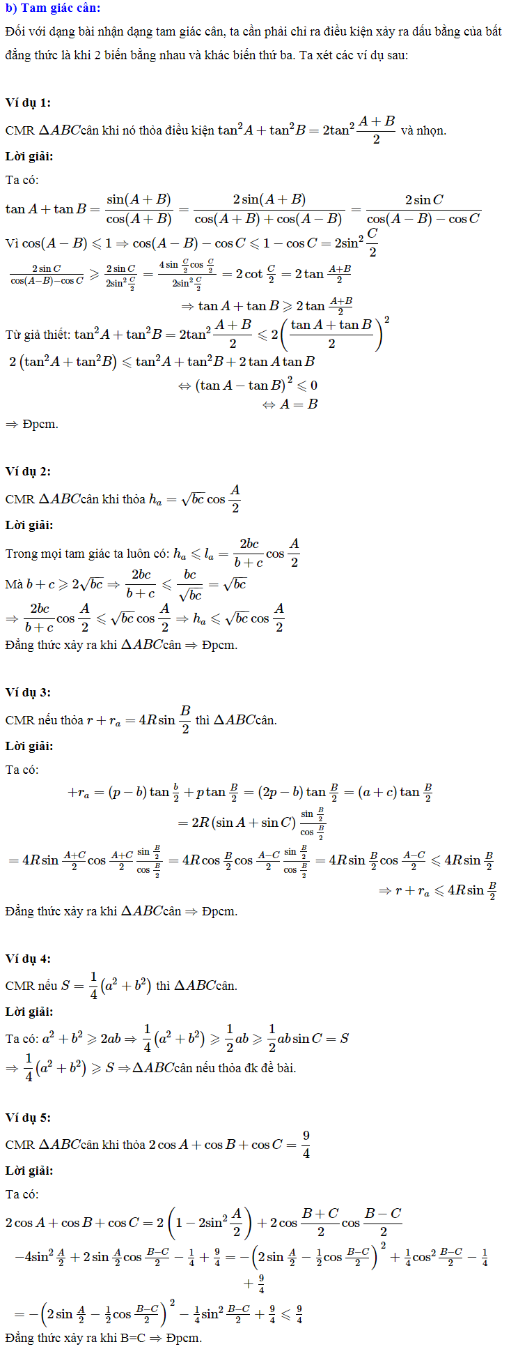 Áp dụng bất đẳng thức lượng giác vào giải một số bài toán-2
