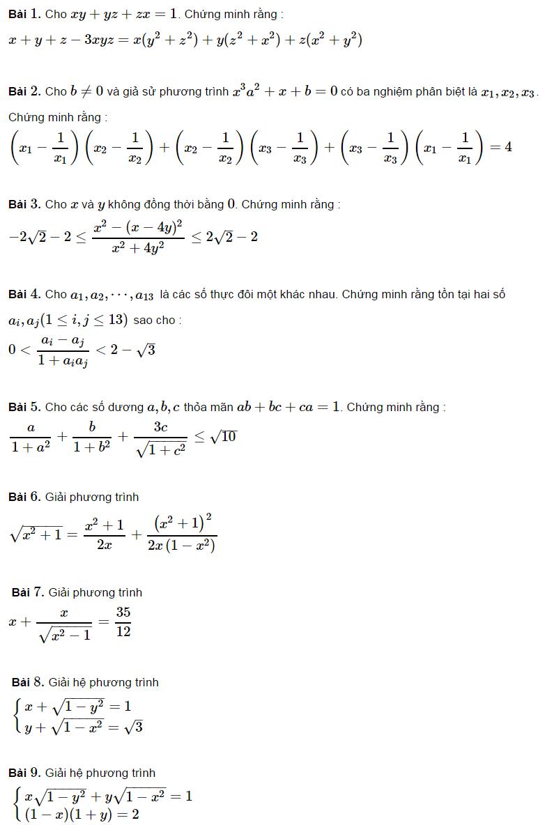 Các ví dụ ứng dụng lượng giác trong đại số-4
