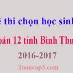 Đề thi chọn học sinh giỏi Toán 12 tỉnh Bình Thuận 2016-2017