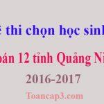 Đề thi chọn học sinh giỏi Toán 12 tỉnh Quảng Ninh 2016-2017
