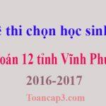 Đề thi chọn học sinh giỏi Toán 12 tỉnh Vĩnh Phúc 2016-2017