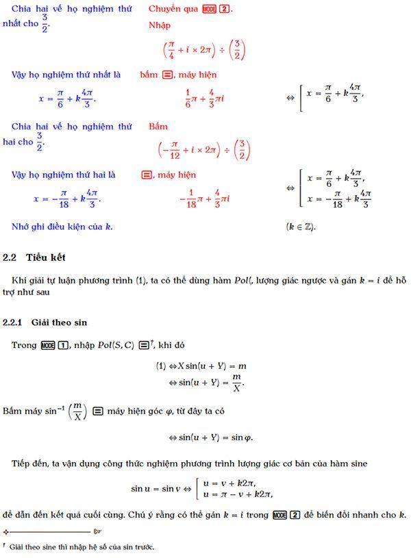 Giải phương trình bậc nhất đối với sin và cos bằng máy tính cầm tay-4