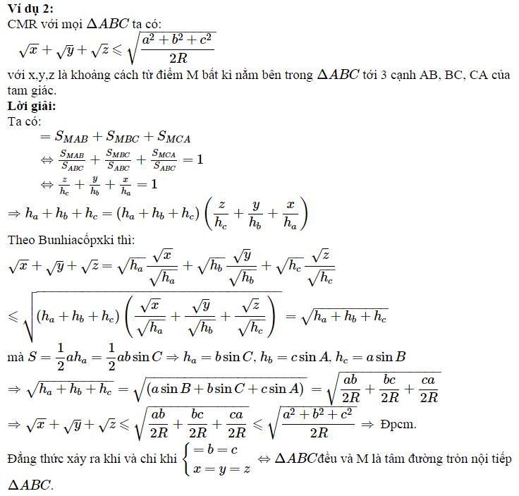 Sử dụng BĐT Bunhiacopxki để chứng minh BĐT lượng giác-2