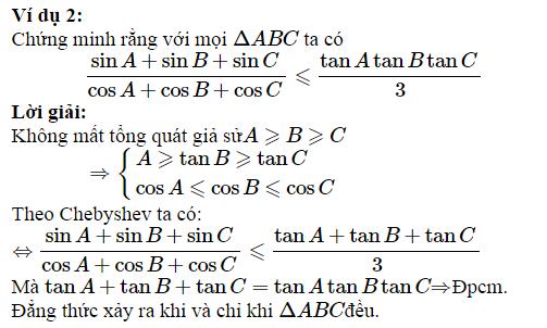 Sử dụng BĐT Chebyshev để chứng minh BĐT lượng giác-2