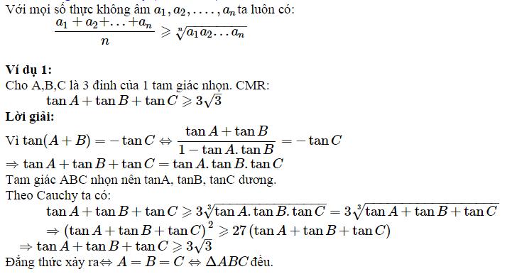 Sử dụng BĐT Côsi để chứng minh BĐT lượng giác-1