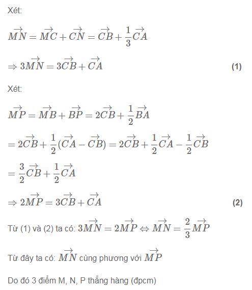 Cách chứng minh 3 điểm thẳng hàng bằng vectơ-3