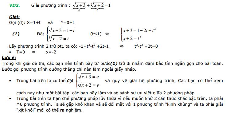 Ứng dụng phương trình đường thẳng để giải phương trình căn thức-3