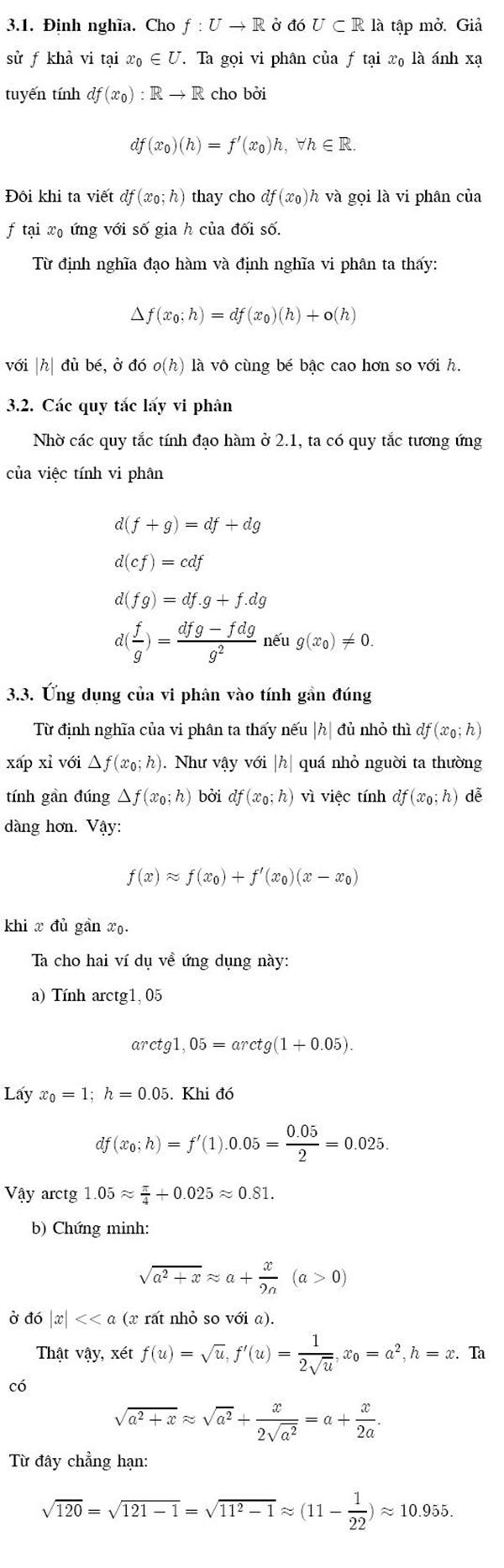 Vi phân và ứng dụng của vi phân vào phép tính gần đúng-1