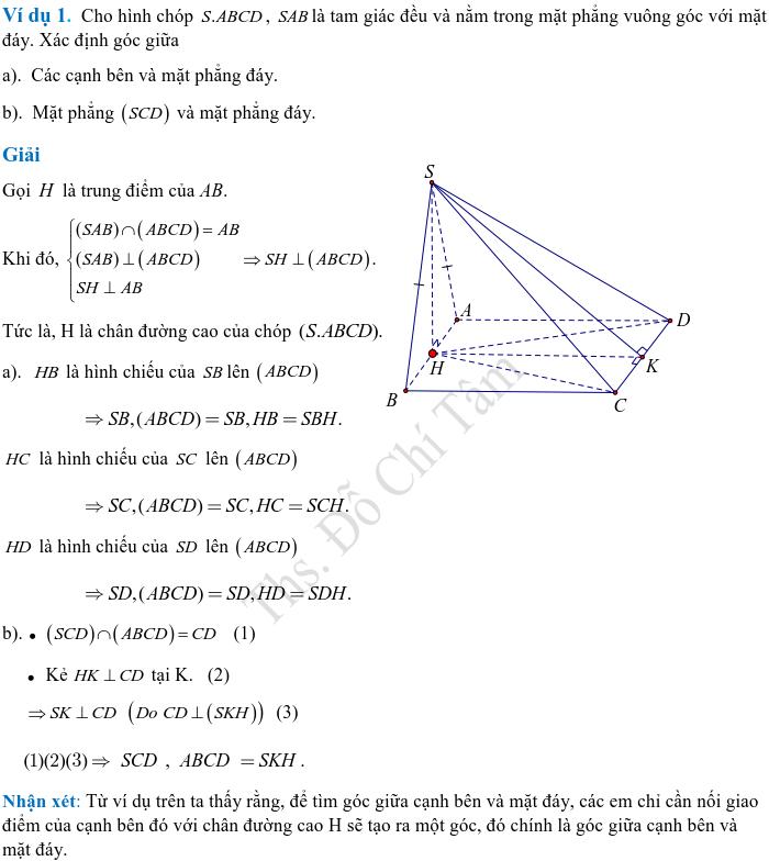 Phương pháp xác định và tính góc, khoảng cách trong hình học không gian-1