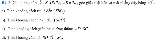 Phương pháp xác định và tính góc, khoảng cách trong hình học không gian-10