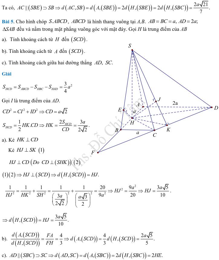 Phương pháp xác định và tính góc, khoảng cách trong hình học không gian-13