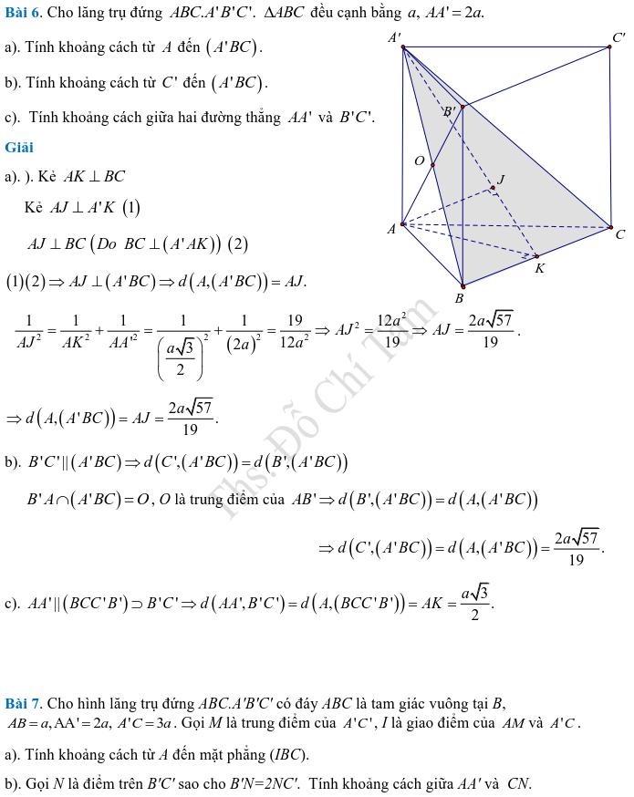 Phương pháp xác định và tính góc, khoảng cách trong hình học không gian-14