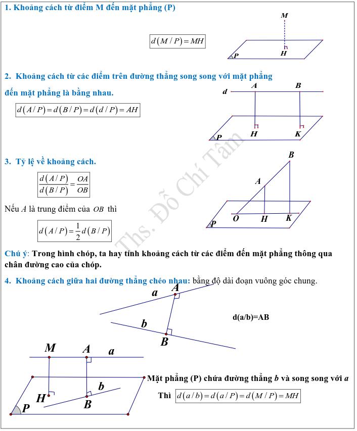 Phương pháp xác định và tính góc, khoảng cách trong hình học không gian-3