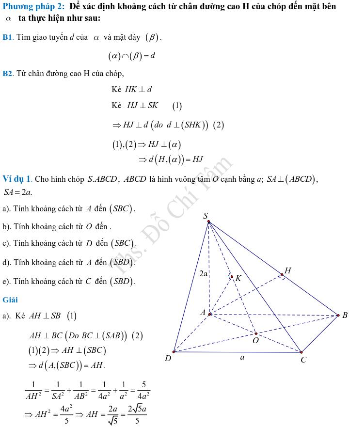Phương pháp xác định và tính góc, khoảng cách trong hình học không gian-4