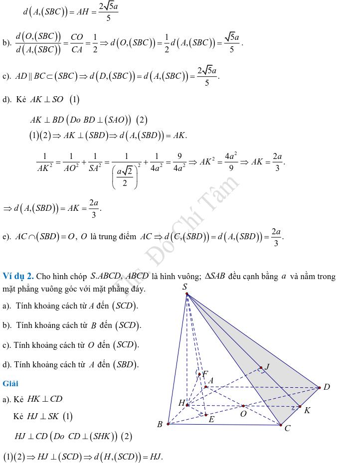 Phương pháp xác định và tính góc, khoảng cách trong hình học không gian-5