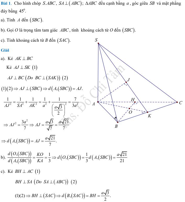 Phương pháp xác định và tính góc, khoảng cách trong hình học không gian-8